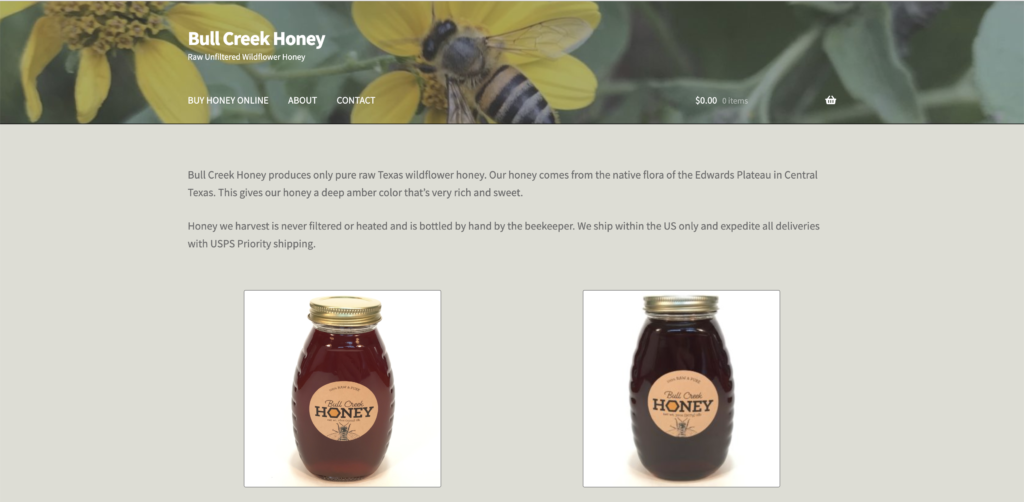 bull creek honey homepage