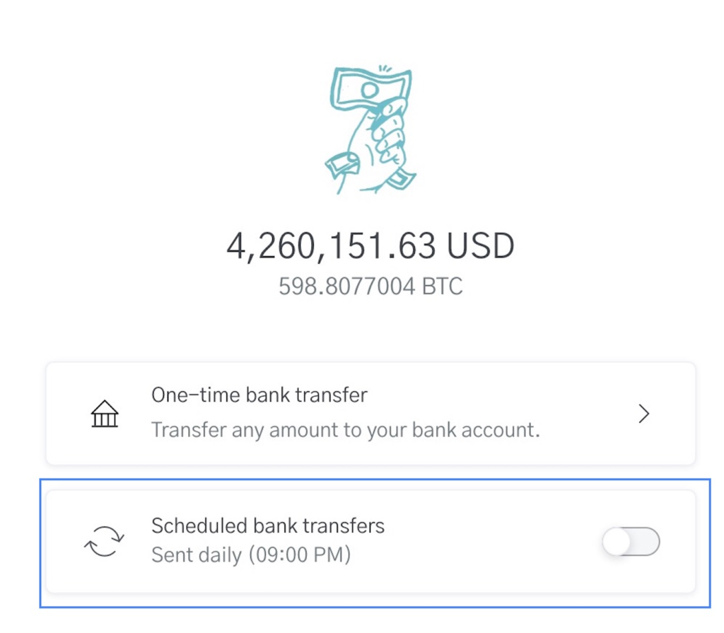 Picture of OpenNode platform feature scheduled bank transfers