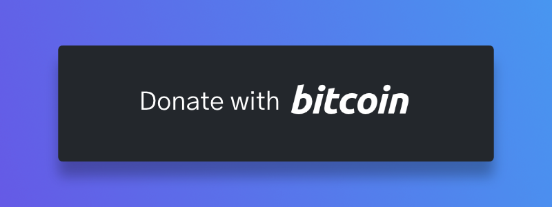 Picture of Donate with Bitcoin button
